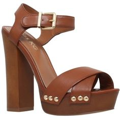 Miss KG Gabby Platform Block Heeled Sandals, Tan ($110) ❤ liked on Polyvore featuring shoes, sandals, tan, platform sandals, vintage sandals, chunky heel sandals, heeled sandals and flat shoes