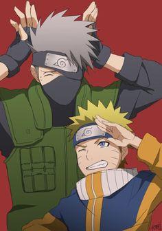<3 Kakashi & Naruto (Team Kakashi / Team 7) - by 犬飼, [pixiv]