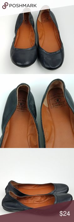"LUCKY BRAND Emmie Black Leather Ballet Flats Women's Lucky Brand ""Emmie"" Flats Black leather upper US Size 8M Pre-owned in great condition! SE9-5 Lucky Brand Shoes Flats & Loafers"