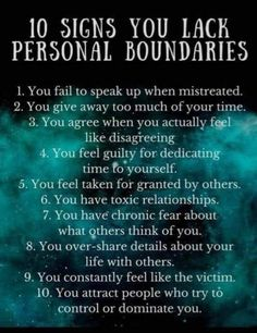 Personal boundaries Are you in a toxic or codependent relationship? Personal boundaries are the mental, emotional, and physical walls we create to protect ourselves from being used, manipulated, or violated by others. Boundaries Quotes, Personal Boundaries, No Boundaries, Personal Qualities, Affirmations, Setting Boundaries, New Energy, Narcissistic Abuse, Psychology Facts