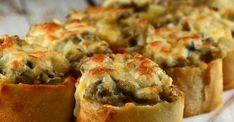 Bouchées croustillantes aux champignons et au fromage