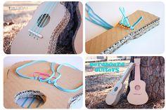 DIY paso a paso como hacer una guitarra de cartón. http://idoproyect.com/blog/materiales-craft-revolucionarios-y-gratis-ii-el-carton/