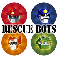 Rescue Bots Pins by NightLokison - might prove a pretty cool decoration. He also has Transformers Prime images as well!