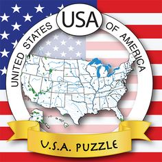 #USA #map #puzzle • #US #Geography • #Fun & Easy way to #learn #States, #Capitals, #Seals, #Abbreviations, #Rivers, #Lakes, #National Parks, #Mountains, and US #Regions:  #West, #Southwest, #Midwest, #Southeast, #Northeast #iOS #App #iPhone #iPad