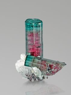 Gorgeous Watermelon Tourmaline (blue-green with pink core) from Pederneira, San Jose de Safira, Doce Valley, Minas Gerais, Brazil