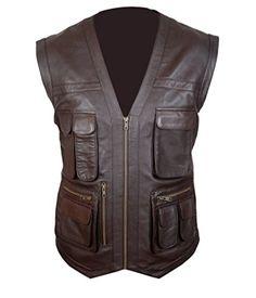 Mega Shop | F&H Men's Jurassic World Chris Pratt Owen Grady Genuine Leather Vest