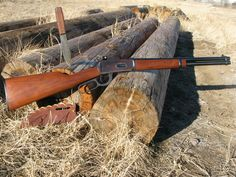 beautiful lever action rifle Winchester carbine