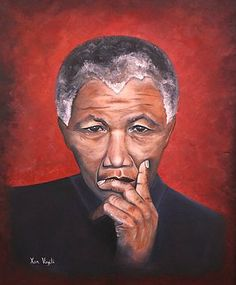 """Nelson Mandela"" - Oils Painted by Xan  Virgili. Original Sold. Orders and enquiries at xan.virgili88@gmail.com Framed Prints, Canvas Prints, Nelson Mandela, Art Gallery, Africa, Tapestry, The Originals, Artwork, Artist"