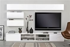 Chic and Modern TV wall mount ideas. - Since many people including your family enjoy watching TV, you need to consider the best place to install it. Here are 15 best TV wall mount ideas for any place including your living room. Living Room Tv, Home And Living, Modern Living, Modern Tv Wall, Muebles Living, Tv Furniture, Living Room Designs, Family Room, House Design