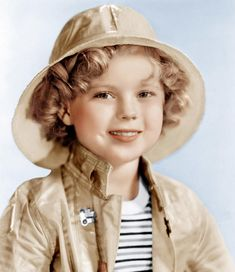Love this color photo of Shirley Temple