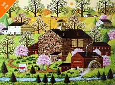 Charles Wysocki Four Seasons - Spring NO LONGER IN PRINT - LAST ONES!!