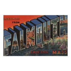 Cape Cod, Massachusetts (Falmouth) Poster
