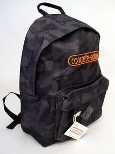 CONCRETE-EATER apparel backpack black camo