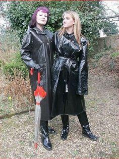pvc friends (from pvc raincoat fetish) Black Rain Jacket, North Face Rain Jacket, Rain Jacket Women, Vinyl Raincoat, Pvc Raincoat, Hooded Raincoat, Raincoats For Women, Imper Pvc, Outfit