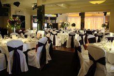 Flower Design Events: Tessa & Alan's Fabulous Deep Purple Wedding Day at St Cuthbert's & The Grand, St Annes