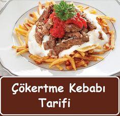 Çökertme Kebabı Tarifi Potato Sticks, Red Chili Peppers, Kebab Recipes, Beef Tenderloin, Kebabs, Stuffed Green Peppers, Meatloaf, How To Dry Basil, Homemade