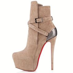 Christian Louboutin Equestria 160mm Ankle Boots Taupe Are In Good Quality And Low Price For You! #WhatSheWant