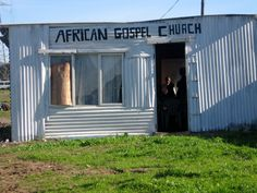 "original pin said ""gospel shack"" but I think it's beautiful.what do you think God thinks? Africa Day, South Africa, My Land, Shelters, African Art, Homeland, Sheds, Cabins, Tin"