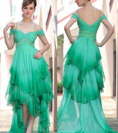 gradient green dress