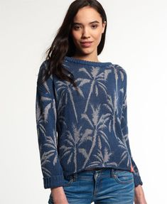 Find this Pin and more on Fashion. Shop Superdry Womens Palm Print Slouch  Knit Jumper ...