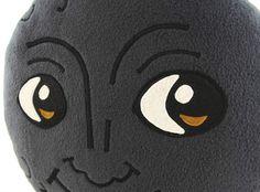 New Moon Face Pillow Creepy Moon Cushion Dark Moon Emoji Etsy Face Pillow Emoji Pillows Moon Emoji