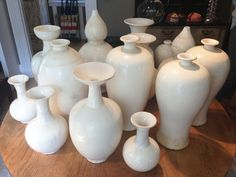 Privet House, Greenwich, CT White pottery collection