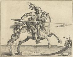 Plate 12 of Jacob DeGheyn's engravings of cavalry. 1590.