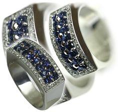 Anillos Varengo - Oro 18 Kl - Diamantes y Zafiros -