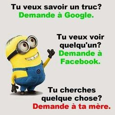 Pour plus -> anais_Fbg Funny Quotes, Funny Memes, French Quotes, Good Humor, Minions Quotes, Funny Posts, How To Look Better, Like4like, Messages