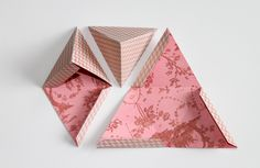 DIY: Triangle gift boxes || #paper_craft