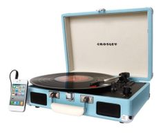 CR8005A Tu Crosley Cruiser Turntable Record Player 3 Speed Turquoise New 710244220194   eBay
