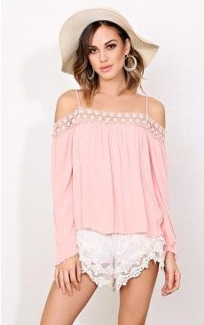 Refreshing cold shoulder woven top - $19.99