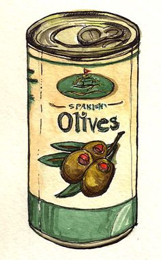Can of Spanish Olives