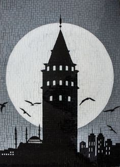 Galata Kulesi, Cam Mozaik by Altınok | Gallerymak