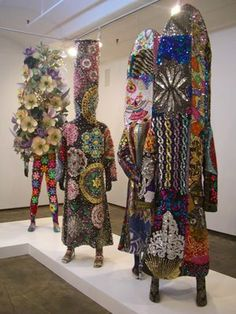 If you have a chance to check out fiber artist Nick Cave's 'Sound Suits', do it! I saw some at the Kemper last summer. Amazing!
