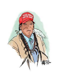 Artist Ed Hall Make America Native Again #MAGA