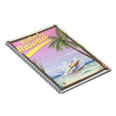 Aloha! Hawaii Vintage style travel poster Notebook - light gifts template style unique special diy