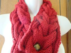 Scarf Chunky Scarf Cowl Cabled Hand Knit Scarf by CherylsKnits, $25.00