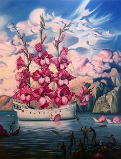 """""""Arrival of the Flower Ship"""" by Vladimir Kush - Natalia Marakhovska - Google+"""