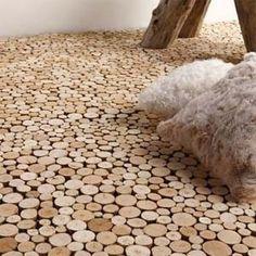 End Grain Driftwood Flooring by Bleu Nature by guida