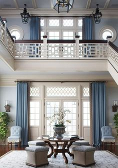 Palest blue, repitition of french doors and oh, that fretwork! The Foo Dog Ate My Homework