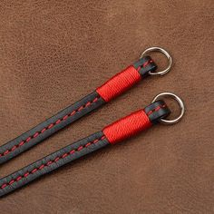 Retro Straight Black Handmade Genuine Leather Camera Shoulder Neck Strap 2831