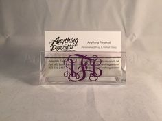 Personalized Gift Monogram Gift Business Card Holder