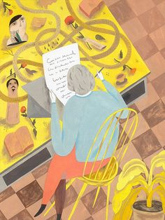 by Inca Pan, illustration for newspaper