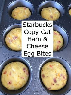 starbucks breakfast cheese bites quick copy make easy bite meal prep cat ham egg how Starbucks Copy Cat Ham Cheese Egg Bites How To Make Quick Easy Egg Bites Easy Egg Bite Meal PrYou can find Egg bites and more on our website Breakfast Appetizers, Breakfast Dessert, Low Carb Breakfast, Breakfast Dishes, Easy Egg Breakfast, Egg Cupcakes Breakfast, Breakfast Ideas For Kids, Meal Prep Breakfast, Starbucks Egg Bites