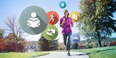 Una mujer piensa mientras corre en los buenos hábitos que quiere adquirir