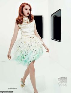 Lily Cole in 'Bouquet Lily'  - by Anthony Maule