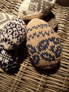 Practice your fair isle and knit a cute Easter decoration at the same time!  Check out the pattern on Ravelry.