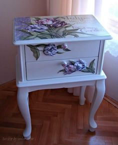 New furniture makeover diy decoupage ideas Decor, Funky Furniture, Furniture Makeover, Painted Furniture, Shabby Chic Decor, Furniture, Trendy Furniture, Shabby Chic Furniture, Chic Furniture