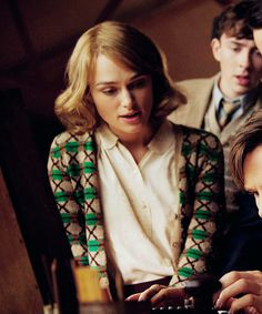 i really want this sweater/pattern  Keira Knightley as Joan Clarke in The Imitation Game (2014)